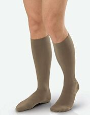 Jobst Ambition Men's 15-20mmHg Knee High, Size 3 Long, Brown