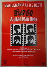 The Beatles, A Hard Day's Night (1984 Vestron Video Promotional Poster)