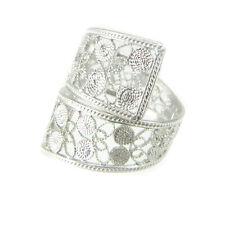 Anello fascia a nastro stile filigrana sarda in argento