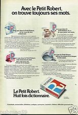 Publicité advertising 1974 Le Dictionnaire Le petit Robert