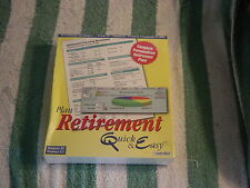 Individual Plan Retirement Quick & Easy (PC, 1997) Personalized retirement  NEW
