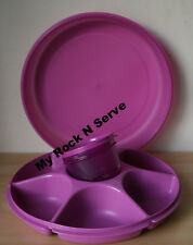 Tupperware Large Devided Serving Center w/ snack cup  New