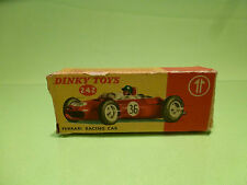 DINKY TOYS 242 BOX for FERRARI RACING CAR-  F1 No 36 1:43 - ONLY BOX