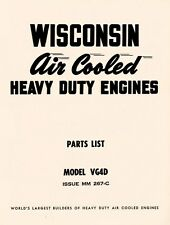 WISCONSIN VG4D Air Cool Heavy Duty Engine Parts Manual