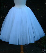 Womans NEW White tutu skirt 16 18 LINED fairy gypsy ballet tulle CALF LENGTH