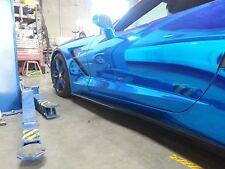 Corvette C7 Stingray Carbon Fiber Side Skirts FOR CONV & CPE BASE MODEL 2014-16