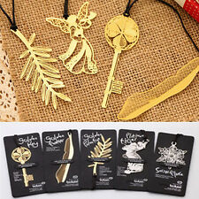 4Pcs NEW Creative Gold Plated Hollow Animal Feather Bookmarks Book Magazine