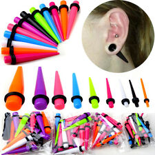 18/Set Acrylic Ear Plug Taper Kit Gauges Expander Stretcher Stretching Piercing