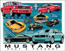 FORD Mustang Chronology Past & Present Collage Tin Sign