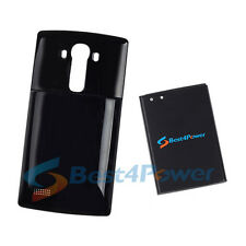 8700mAh Extended Life Battery+Black Cover For AT&T LG G4 H810 H815 Phone
