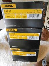 MIRKA Gold , 300 schleifscheiben , 115 mm , P 120 und P 220 , ungelocht