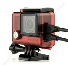 Red Side Open Skeleton Housing FPV Protective Case for GoPro Hero 4 3+ 3 Camera