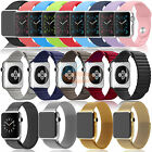 Silicone Sport Band Milanese Loop Genuine Leather Link Bracelet For Apple Watch