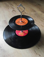 Unusual Funky Two Tier Cake Stand made from old Vinyl records