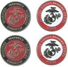 """US MARINES LOGO GOLF BALL MARKERS """"SALE TODAY"""" 4 PACK SPECIAL"""