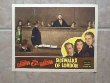 Vivian Leigh Charles Laughton Rex Harrison  1938 Sidewalks of London  UK Film