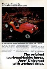 1966 Kaiser JEEP Universal 4-Wheel Drive Camping Boy Scouts PRINT AD