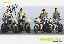 Roberto Rolfo Hand Signed Hannspree Racing Promo Card.