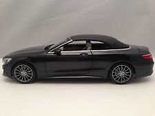 Norev Mercedes Benz S Class Cabriolet (A217) Magnetite Black Model Car 1/18