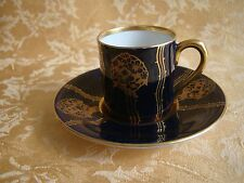 ANTIQUE GERMAN PORCELAIN CUP AND SAUCER BY FRAUREUTH HAND PAINTED