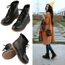 1 Pair Women Girl Cool Punk Ankle Martin Boots Mid Calf Boots Fashion Shoes BE