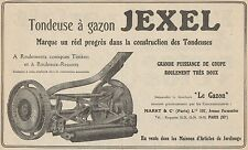 Y7285 Tondeuse à gazon JEXEL - Pubblicità d'epoca - 1928 Old advertising