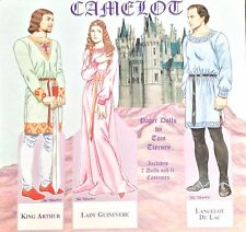 Camelot Paper Doll Book by Tom Tierney, Shackman 1996, Uncut, King Arthur