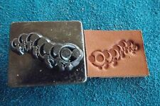 "LEATHER TOOLS/*VTG* CRAFTOOL CO USA 1"" STAMP**#8225 CATAPILLAR**  ( Y-23)"