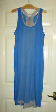 BNWT DKNY PURE LOVELY BLUE & GREY LAYERED OVERSIZE LOOSE DRESS - SIZE SMALL