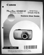 Canon Powershot SD960 IS IXUS 110 IS  Digital Camera User Guide Manual