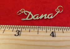 "14KT GOLD EP ""DANA"" PERSONALIZED NAME PLATE WORD CHARM PENDANT 6096"
