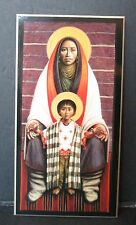 HOPI VIRGIN AND CHILD PLAQUE, Native American, Wall Art, Christian, Religious