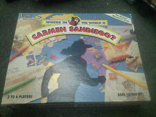 Where in the World is Carmen Sandiego? Mystery Geography Board Game 1992