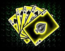 STRAIGHT FLUSH IN SPADES POKER HAND   MOUSE PAD  IMAGE FABRIC TOP RUBBER BACKED