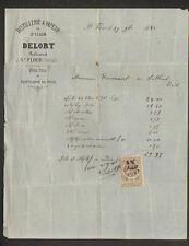 """SAINT-FLOUR (15) DISTILLERIE à VAPEUR / VINS FINS """"DELORT"""" en 1881"""