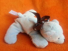 """Mary Meyer Baby blue brown laying down bear soft toy baby comforter 7"""""""