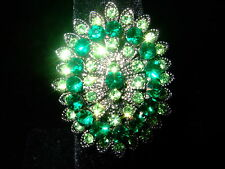 GORGEOUS GREEN MARQUISE MATAHARI RING AJUSTABLE SIZES