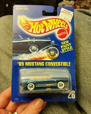 Hot Wheels HW Card #26 '65 Mustang Convertible w/ speed points insert