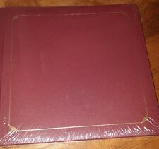 NEW Creative Memories 12x12 Old Style Scrapbook Album Pages Burgundy Maroon Gold