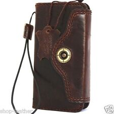 genuine vintage leather case for iphone 5s 5 5c c JP book wallet cover handmade
