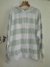 """Muted Green & White Stripe Mens River Island Hoodie in Size XL - Chest 50"""""""