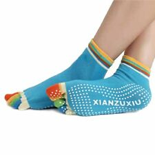 Womens Socks 5-Toe Colorful Yoga Gym Non Slip Massage Toe Socks Full Grip NICE