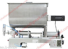 1000ml paste filling machine for peanut butter,piston filler with mixer hopper