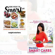 Losing Weight the Smart Way Collection 2 Books Set (Davina's Smart Carbs) New