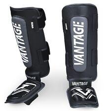 Vantage shinguards Combat Hybrid Black. espinilla protección Muay Thai, Kickboxing, MMA