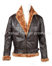 Men's Aviator B3 Ginger Sheepskin Leather (Artificial fur) Bomber Flying Jacket