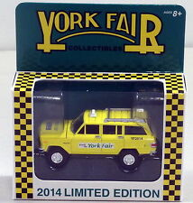 DTE JOHNNY LIGHTNING 2014 YORK FAIR BLACK WHEEL JEEP WAGONEER TAXI CAB NIOB