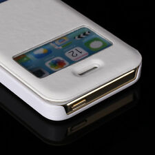 Luxury Flip Leather Slim Case Screen View Stand Cover for Apple iPhone 5 5s