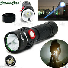 Zoom 5Mode CREE XM-L2 T6 LED USB Sky Wolf Eye Taschenlampen 5000LM Flashlight