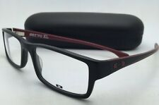 New OAKLEY Eyeglasses SERVO XL OX 1066-0457 57-18 Black & Brick-Red Large Frames